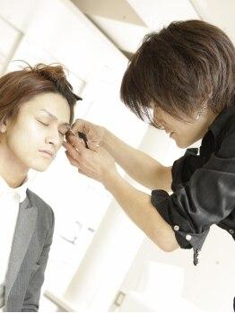 ゼル アヴェダ ららぽーと富士見(ZELE AVEDA)の写真/【リピーター多数!】男性特有の頭皮の悩みケアやご自宅でのスタイリング方法が、気軽に相談できます◎