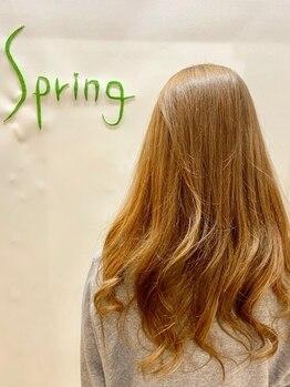 スプリング(Spring)の写真/LOREALの極潤トリートメントを使用☆7種類から髪質やお悩みに合わせてお選びいたします!