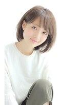 【GARDEN】最新☆耳かけして可愛い小顔シースルーボブ(田塚裕志)