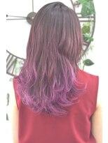 ヘアーサロン エール 原宿(hair salon ailes)(ailes原宿)style379 デザインカラー☆ピンクグレープ