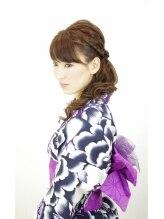 ティーゾーン(T ZONE)すっきりまとめて和服美人 編みこみサイドアップで大人な雰囲気