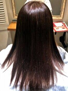 ヘアーズ ドレッサー(HAIR'S DRESSER.)の写真/〈須屋*女性Staffのみ〉ダメージケアと髪質改善★強い癖でお悩みの方も乾かすだけで滑らかな【艶髪】に♪