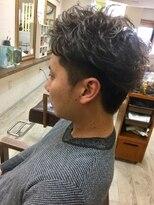 ファシオ ヘア デザイン(faccio hair design)ツーブロック×パーマ×アッシュ