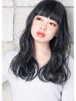 ヘアサロン ガリカ 表参道(hair salon Gallica)☆ネイビーグレージュ & 無造作☆ オン眉 ☆ デザインカラー☆
