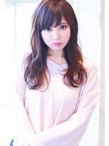 【Creo】ベリーピンク×ニュアンスカールロング#くびれセミディ
