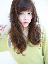 """アグ ヘアー ナイン 東三国店(Agu hair nine)""""ゆるカワ""""斜めバングウェーブ☆"""