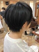【morio池袋】今年流行大人かわいい黒髪耳かけショート#