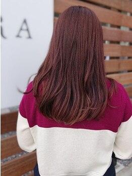 サクラ(SAKURA)の写真/【岐阜/北鶉】女性オーナーのプライベートサロン♪潤い・艶◎の《R-color》でワンランク上のヘアカラーを。