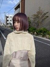 ソアヘアー(Soar hair)【Soar】パープルピンク×髪質改善プラチナトリートメント