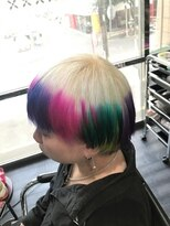 ミミック (mimic)white × pink、blue、violet、yellow、green TRICKstyle!