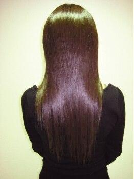 サクラ 羽束師店(SAKURA)の写真/サラサラ自然な仕上がりに満足♪髪をケアしながらデザインを楽しみたい方は[SAKURA羽束師店]にお任せ!