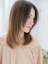 髪質改善voice荻窪★暖色系カラーでサラ艶ワンカールストレートc