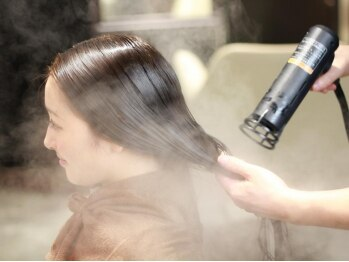 ヘア フィックス リュウ リゾート(hair fix RYU Resort)の写真/ナノの蒸気で栄養分をぎゅっと浸透《ナノスチームTreatment¥4320→¥2160》髪の内部までしっかり保湿補修!