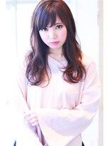 【Creo】ベリーピンク×ニュアンスカールロング#小顔#前髪