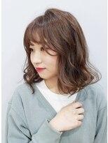 エイム ヘアメイク 横川店(eim HAIR MAKE)色濃く透明感☆ふわふわミディ