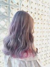 ワクヘアー(WaKu hair)インナーピンク系ユニコーン