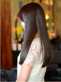 パラン 大泉店(PaLaN)の写真/弱酸性薬剤で肌に優しく理想のサラ艶髪へ導きます◎PaLaNオリジナルのトリートメントでハリ/コシ/ツヤUP♪