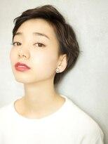 ベックヘアサロン 広尾店(BEKKU hair salon)かきあげた前髪でクールなエッジモードショートスタイル☆