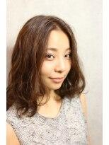 【coma中野】ラフニュアンスセンターパートふわミディ