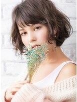 ヘアー ピープル(Hair People)外国人風カーキグレージュ×フェミニンボブ☆