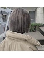セカンド(2nd)切りっぱなしボブ/ブリーチ/ボブ/小顔カット