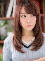 ピンクラベンダー大人かわいい小顔ストレート川口10代20代30代a!