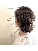 スーベニール(souvenir)■白髪対応■【3Dカラーフェザーミディアム】堺市初芝