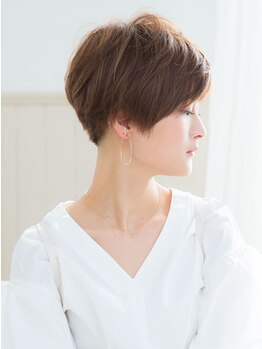 アドラーブル 長岡リップス旭岡店(adorable)の写真/髪の素材美を生かしたカラー提案で人気☆自然で上品な色味がワンランク上の大人可愛いヘアを叶える♪