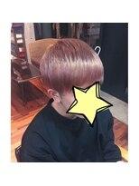 エンヘアー(en hair)春っぽい◎ペールピンクカラー◎