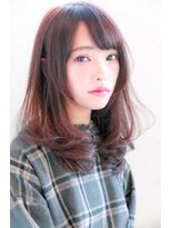 ロビー(Lobby)【春色】ツヤ髪ピンクブラウンカラー ワンカールミディ shota