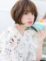 【macaron富田】ガーリーショート☆大人ベージュ