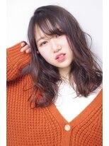 ヘアリゾート リアン(hair resort Lien)シースルーバング+ゆるふわミディ ☆Lien☆ 倉田