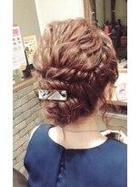 ヘアメイク シュシュ(Hair make chou chou)【林 有里子】着物ヘア×二次会 パーティアレンジ