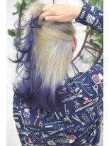 ヘアーサロン エール 原宿(hair salon ailes)(ailes原宿)style303 デザインカラー☆ホワイト×バイオレット