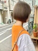 ショートマッシュ暖色系カラーぱっつんボブミニボブ髪質改善大阪