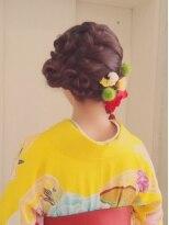 和装の☆Chouchou☆成人式・卒業式★編みこみヘアアレンジ画像