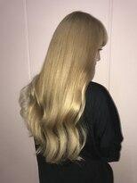 blondヘア~おへそ近くの長さシールエクステ80枚~