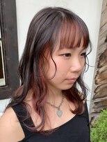 ヘアー アイス カンナ(HAIR ICI Canna)インナーカラー×グレー×ピンク
