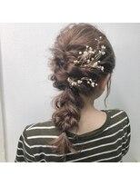 【GiseL】ミディアムレングス用編みおろしスタイル