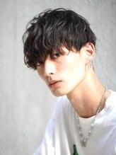 コンフィデンス 渋谷店(confidence)ゆるふわスパイラルパーマ × 刈り上げマッシュ