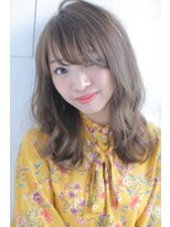 ジーナシンジュク(Zina SHINJYUKU)☆Zina☆とろみ無造作カールグレージュふわミディ