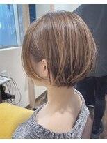 リンクス(LINKTH)ハイライト/丸みショートボブ/モテ髪カタログ/ベージュ