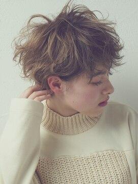 ロッジ 原宿店(RODGE)『ennui short』無造作カール×丸みショート