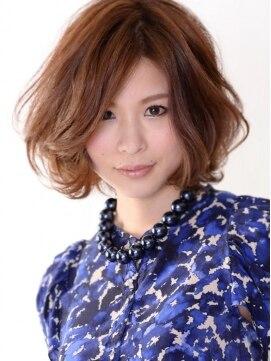 ハナブサ 藤江店(HANABUSA)大人かわいいボブスタイル。ランダムパーマで小顔効果UP