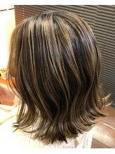 ヘアーメイク クーラ(Hair make CURA)外国人風バレイヤージュ