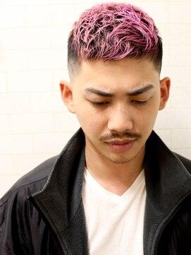サンディーズ バーバーショップ(SUNDYS BARBERSHOP)クロップ 刈り上げ ボウズ ツーブロック サイドパート 黒髪短髪