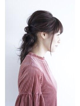 ヘアーアンドエステティック ヴェリス(hair&esthetic Velis)【Velis】ねじり入り結びアレンジへア