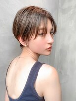【HAVANA 渋谷】大人かわいい☆小顔ハンサムショート×ベージュ
