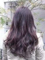 ノル(nol hair&spa)*ピンクパープルアッシュ*