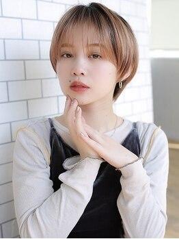 アグ ヘアー オーディエ 甲府店(Agu hair odier)の写真/繊細でハイレベルなカット技!黄金バランスで小顔効果も。ショートボブ&前髪作りもお任せ!
